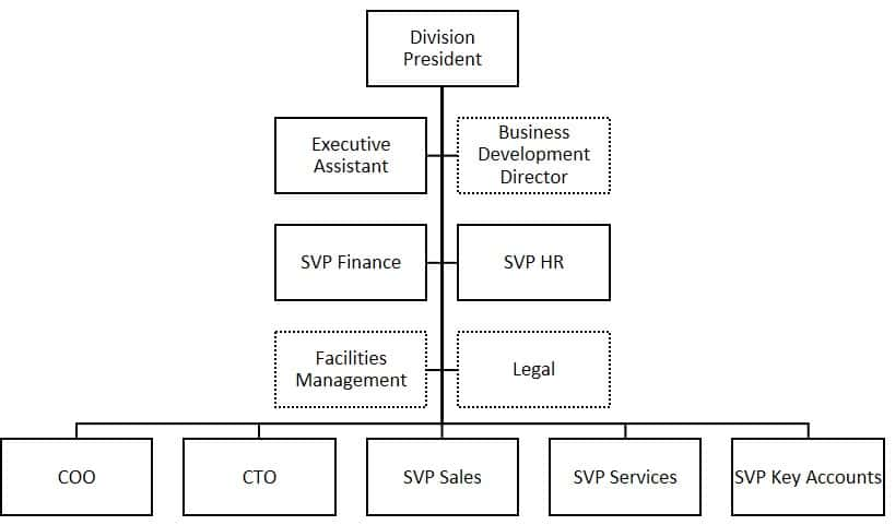 Example of management team structure #2
